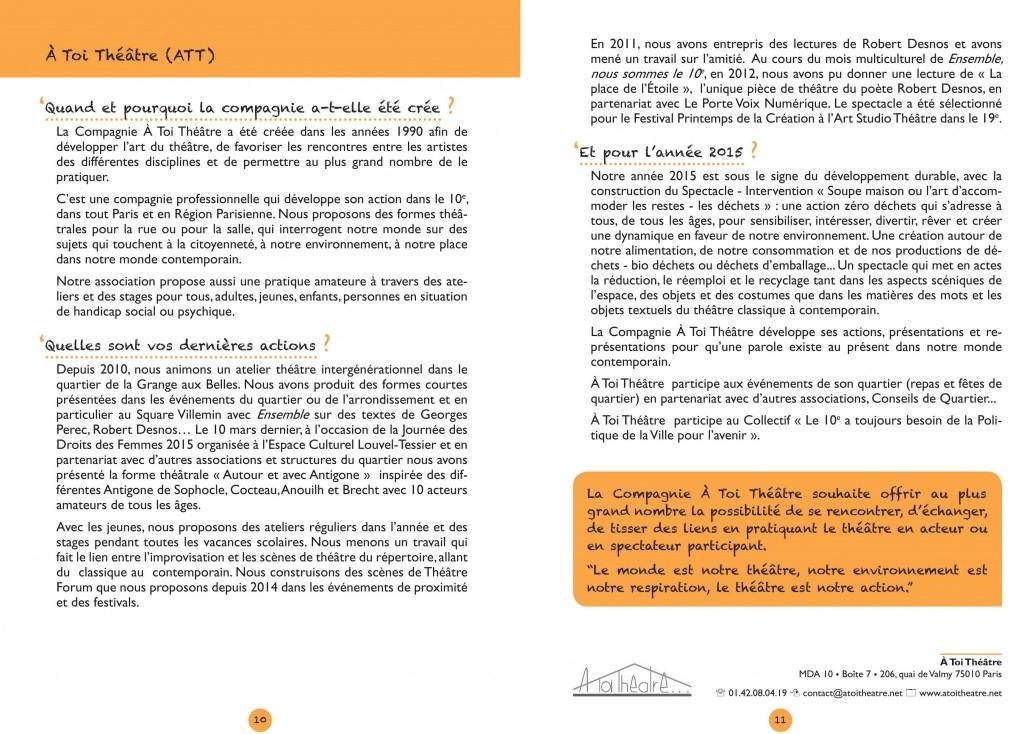 ATT - Extrait du Livret Ensemble nous sommes le 10 ème 2015