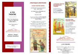 Brochure newsletter - Pratique amateures - ETE et RENTREE 2016-2017 - 130716