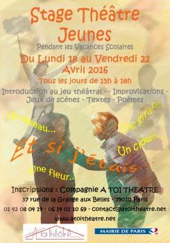 Stage Théâtre jeunes _printemps 2016