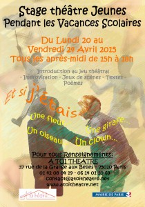 Stage Vacances scolaires AVRIL 2015