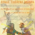 STAGE THEATRE JEUNES - A TOI THEATRE - JUIN 2017