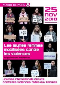 Capture - affiche jeunes femmes mobilisées contre les violences 2018