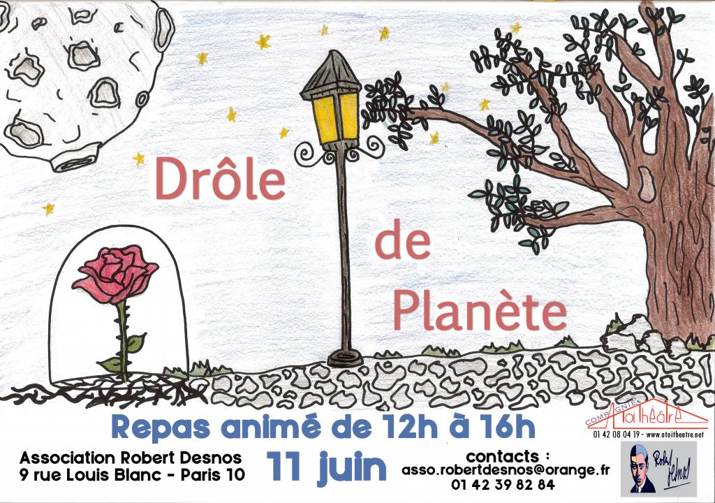 drôle de planète- repas affiche du 11 juin 2019