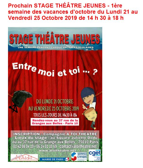 ACTU STAGE OCTOBRE 2019