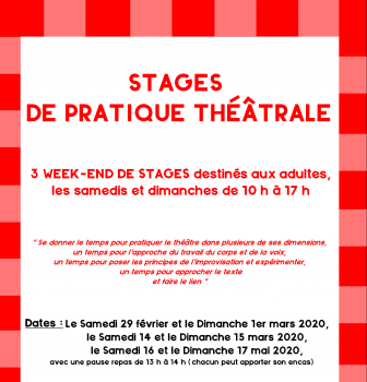 affiche stage adulte tract